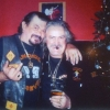 John (Boxer) Muscedere and Wayne (Weiner) Kellestine at Christmas party in South Riverdale section of Toronto Crown exhibit