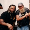 Frank (Cisco) Lenti and James (Ripper) Fullager, Old school outlaw bikers Julian Carsini photo