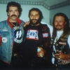 David (Wolf) Carroll of Hells Angels, Frank (Cisco) Lenti, then of the Loners, and Walter (Nurget) Stadnick, of Hells Angels Peter Edwards photo